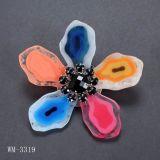 Bijoux de mode, broche de fleur, broche en métal (WM-3319)