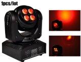 Zweiseitiges 8PCS 8W RGBW 4in1 LED mini bewegliches Hauptwäsche-Licht für Stadiums-Disco mit Cer