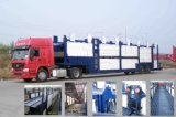 Tri-Axle Transport Car y Vehicles Semitrailer Truck con 10 Cars Loading Capacity