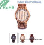 Quarz-Uhr der Frauen Form-Armbanduhr-der hölzernen Uhr-Männer