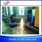 Plasma do CNC da tubulação do metal do pórtico da exatidão elevada/máquina estaca da flama