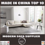 Mobília de casa Estilo italiano Sala de estar moderna Sofá de pena de couro