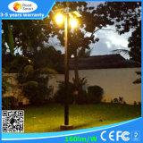 Jardín al aire libre de las luces que enciende todos en una luz de calle solar del LED