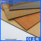 Panneau composé en aluminium enduit en bois incassable du PE PVDF de vente chaude (ACP)