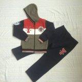 스퀘어 6712 아이 양털 2 PCS 옷 세트에 있는 지퍼 소년 스포츠 한 벌 옷