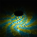 Solar Outdoor Mosaic Glass Ball Garden Lights for Parties Decorations