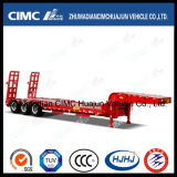 Sale chaud Cimc Huajun 3axle Lowbed Semi Trailer