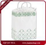 Saco de papel dos clientes florais fúcsia, saco do presente, saco de compra, saco de papel do presente