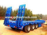 専門家半80トンのトレーラーの2 3の4つの車軸低いベッドのトレーラー