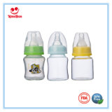 Mini botellas de vidrio estándar Cuello de bebé para la alimentación del bebé