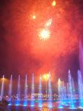 Fontaine musicale pour la célébration dans l'étang artificiel