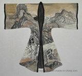 Abstract Olieverfschilderij op Dikke Textuur Oude kleding-01 van het Canvas