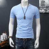 T-shirt sec de forme physique de chemise d'ajustement de T-shirt blanc de coton