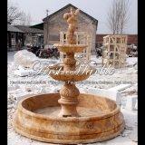 Fuente de agua de piedra de mármol del jardín Mf-838