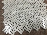 Cheap Wood-Grain Gray Marble Stanza Mosaic Kitchen Tile