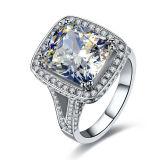 De Kubieke Zilveren Ringen Zircon van het hart in Echte Zilveren Juwelen 925