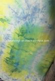 Única Jersey R/Sp 95/5, 175GSM, tela de confeção de malhas da tintura do laço para a senhora Vestuário do vestido