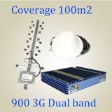 repetidor móvel duplo do sinal da faixa 900/2100MHz da potência 27dBm, impulsionador de 3G WCDMA G/M