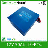 Cycle profundo 12V 50ah Lithium Ion Battery para Helicopter