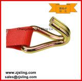 """A cinta da catraca/amarra para baixo com ganchos 3 de """" vermelho do fio X 27 '"""