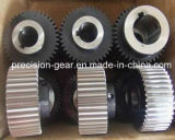 Gear helicoidal para Cutting Plate Machine, Steel Helical Teeth Gear