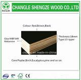 11 capas del color negro con la película de la base del álamo hicieron frente a la madera contrachapada