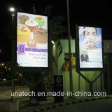 Alu 광고. 매체 LED 옥외 뒤 점화 상자 두루말기 게시판을 인쇄하는 포스터 기치