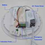 Painel LED de emergência 12W Slim com corte 160 150mm com 1.5hrs com 50% de potência