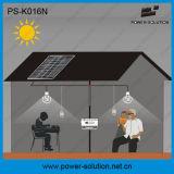 O sistema de iluminação Home solar pode iluminar acima 4 quartos por 8 horas com carregador do telefone