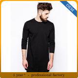 T-shirts 100% grands de Mens de coton de modèle longs