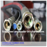 Wire en acier Braided Hydraulic Rubber Hose avec Couplings