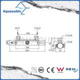 Válvula de banho misturadora de banheira redonda com termostato cromado (AF4313-7)