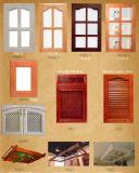 Gabinete de cozinha tradicional personalizado #169 da madeira contínua