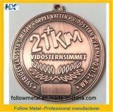 旧式な銅および亜鉛合金21kmが付いているカスタム挑戦メダル