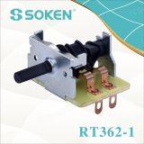 Interruptor rotatorio 16A 250V T100 de la posición del calentador eléctrico 6 de Soken