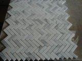 熱い中国の彫像用の白い大理石のモザイク・タイルの製造業者