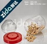 O alimento transparente selado enlata frascos plásticos, bolinhos de empacotamento por atacado do chá do frasco dos frascos plásticos do alimento