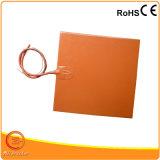 Elemento de calefacción eléctrico flexible del caucho de silicón de 12 voltios