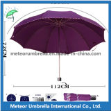 3フォールドLadies日曜日およびRain Promotion Gift Flower Design Parasol Weather Umbrella