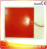 Calefator elétrico flexível da película do aquecimento 12V da borracha de silicone