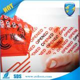 Seguridad inalterable que empaqueta la cinta vacía para la protección del embalaje