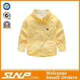 男の子の100%年の綿が付いている長い袖の学生服のワイシャツの衣服