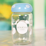 400ml, garrafa de vidro de cogumelo, pacote de vidro de água