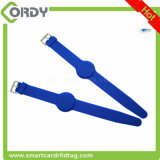 13.56 MHz Ntag213 impermeable ajustable pulsera de silicona pulsera RFID NFC