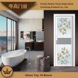 Or de Rose et porte en aluminium blanche de tissu pour rideaux de profil pour la décoration de salle de séjour