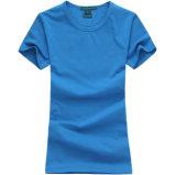 [100كتّون] بيضاء [ت] قميص رجال مستديرة عنق لياقة [ت] قميص