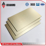 Ideabond Professional Fabricante Acero Inoxidable Panel Compuesto Material de la fachada