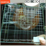 het Glas van de Bouw van de Veiligheid van 319mm, het Glas van de Draad, het Lamineren Glas, de Vlakte van het Patroon/de Neiging Aangemaakte Bril van de Veiligheid voor Muur/Vloer/Verdeling met SGCC/Ce&CCC&ISO