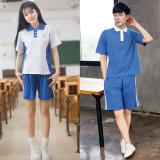 Schule-Sport-hohes Schuluniform-Polo-Hemd 100%