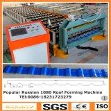 Roulis de toit en métal de couleur formant la machine pour la Russie